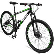 Bicicleta Aro 29 GT SPRINT MX1 21v Câmbio Traseiro Shimano com Suspensão Quadro 17 Preto/Verde/Branco