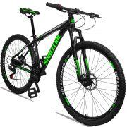 Bicicleta Aro 29 Spaceline Orion 21v Freio a disco Mecânico Quadro 21 Preto/Verde