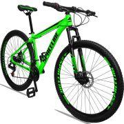 Bicicleta Aro 29 Spaceline Orion 21v Freio a disco Mecânico Quadro 21 Verde/Preto