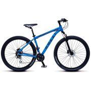 Bicicleta Colli Aluminio Aro 29 Freio Disco Kit Shimano Altus 24 Marchas Azul Fosco