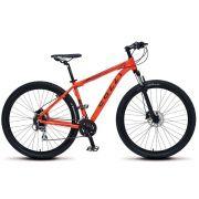 Bicicleta Colli Aluminio Aro 29 Freio Disco Kit Shimano Altus 24 Marchas Laranja Neon