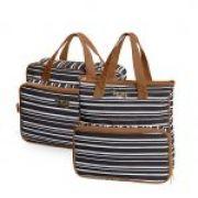 Bolsa maternidade Línea preto kit 02 peças bolsas M e G - Hug