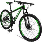 Bicicleta Aro 29 Dropp Aluminum 27v Câmbio Traseiro Altus Freio Hidráulico Quadro 21 Preto/Verde