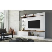 Home Theater Allure Branco/Canyon - HB Móveis