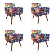 Kit 04 Poltronas Decorativa Nina Triângulos