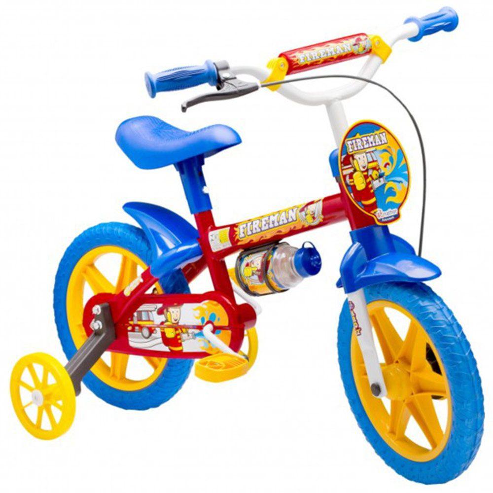 Bicicleta Colli MTB Aro 12 Fireman Azul Masculino