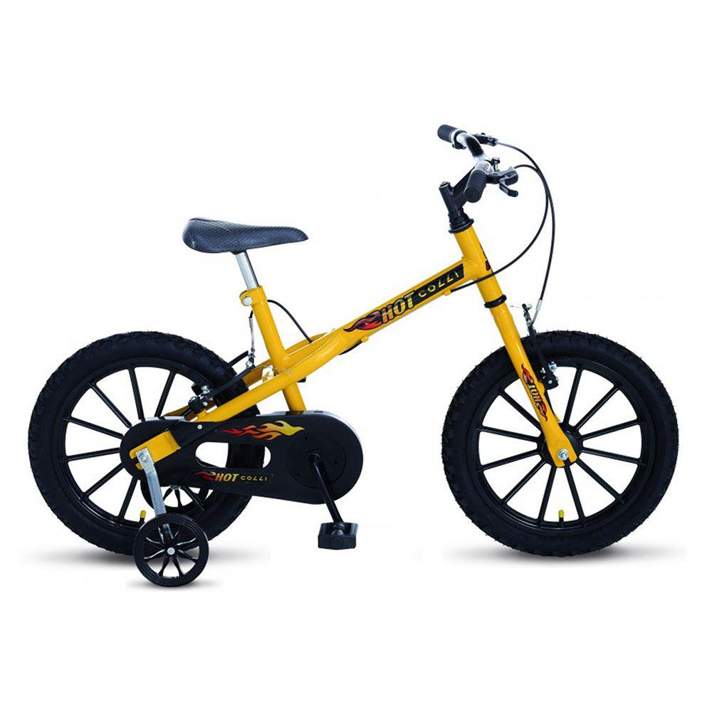 Bicicleta Colli MTB Hot Aro16 Masculino Amarelo Preto