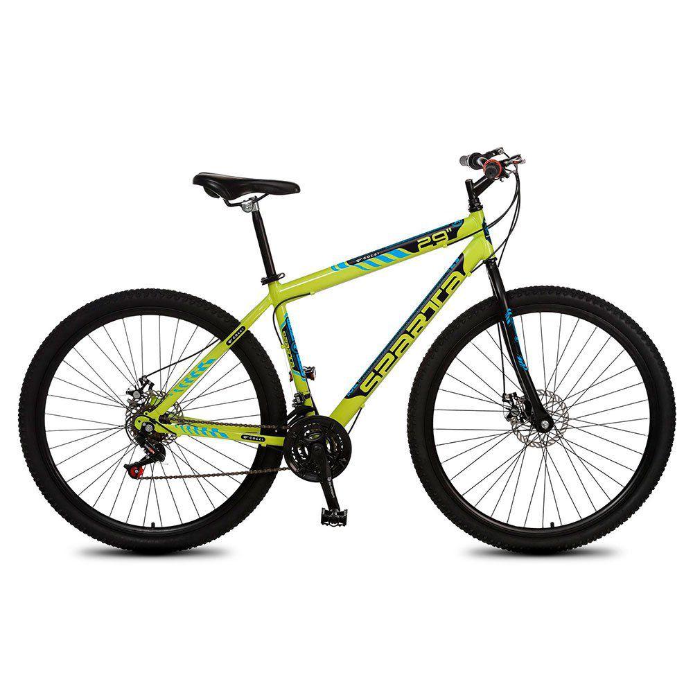 Bicicleta Colli Sparta MTB Aro 29 Freio Disco 21 Marchas Amarelo Neon