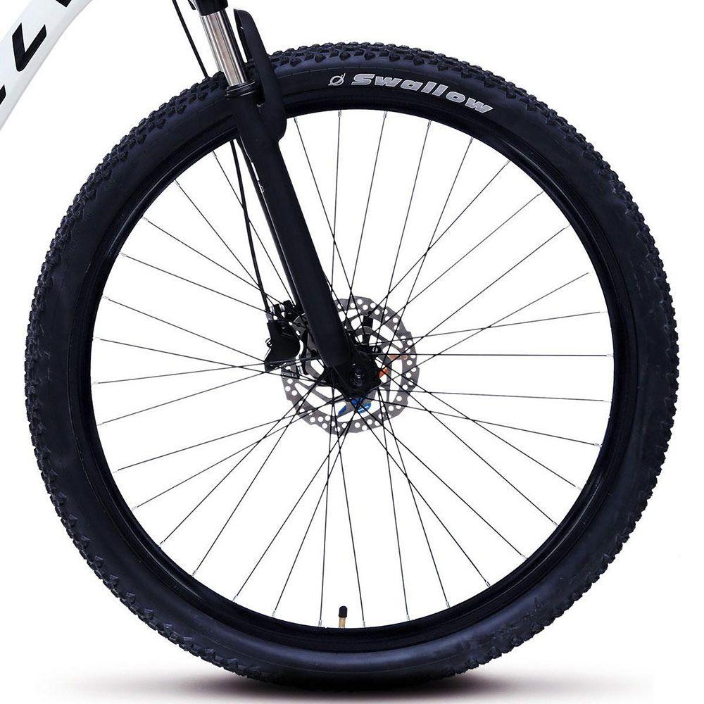 Bicicleta Colli Aluminio Aro 29 Freio Disco Kit Shimano Altus 24 Marchas Branco