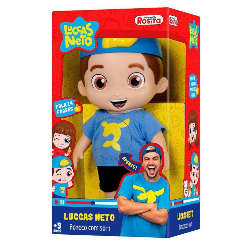 Boneco Luccas Neto que Fala 30cm - Rosita