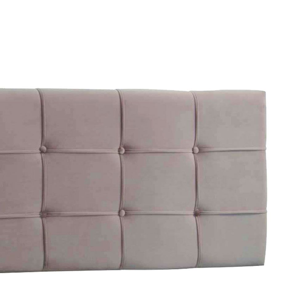 Cabeceira Painel Casal Ana Luisa 140 cm Suede Bege