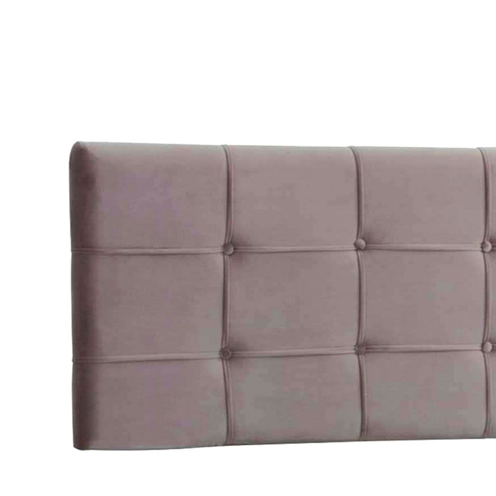 Cabeceira Painel Queen Ana Luisa 1,60 m Suede Bege