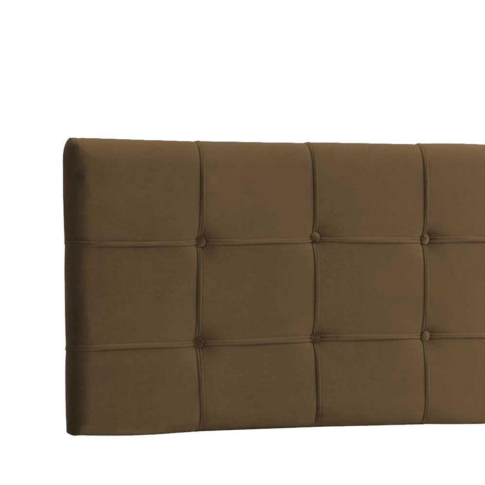 Cabeceira Painel Queen Ana Luisa 1,60 m Suede Marrom