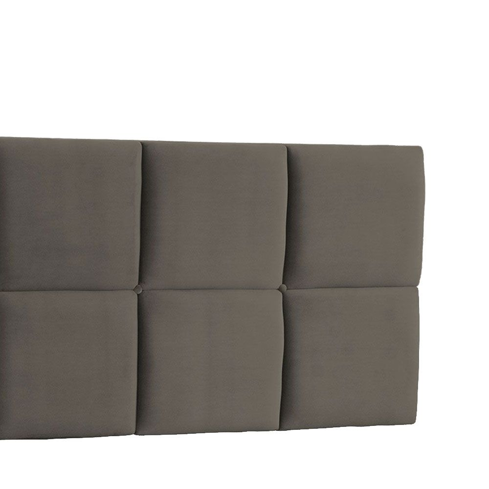 Cabeceira Painel Queen Poliana 1,60 m Suede Cinza