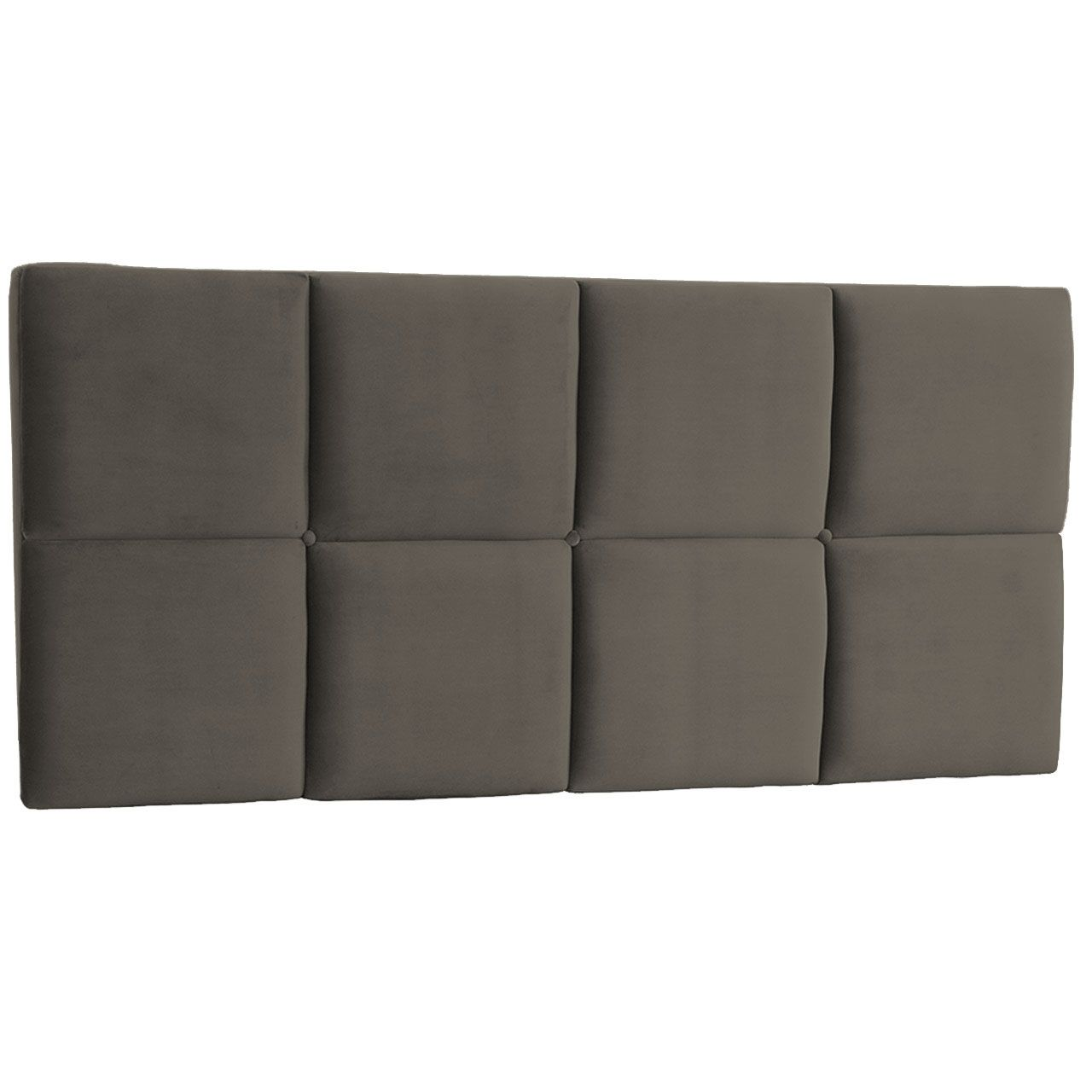 Cabeceira Painel King Poliana 1,95 m Suede Cinza