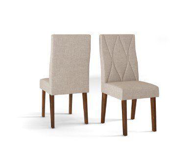 Cadeira De Jantar MANUELA TRUFA LINHO URBANO- CONJUNTO COM 2 CADEIRAS