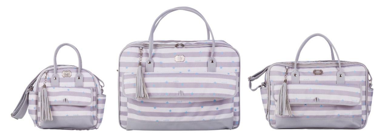 Conjunto Bolsas Maternidade Estrela Azul 230 com 03 peças - Momole