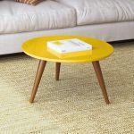 Mesa de Centro HB Móveis Sorelle Amarelo - HB Móveis