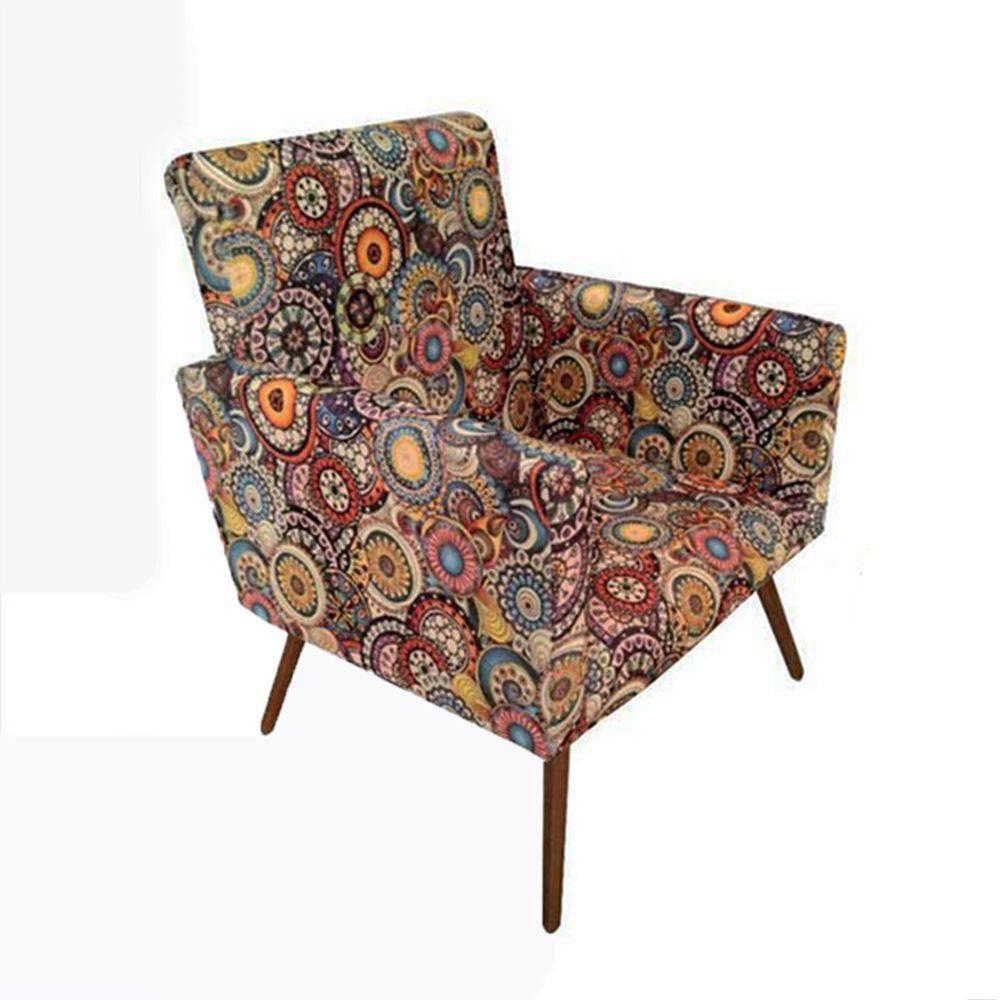Poltrona Decorativa Nina Mosaico