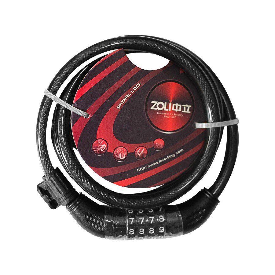 CADEADO ZOLI ESPIRAL COM SEGREDO 1,85MX12MM