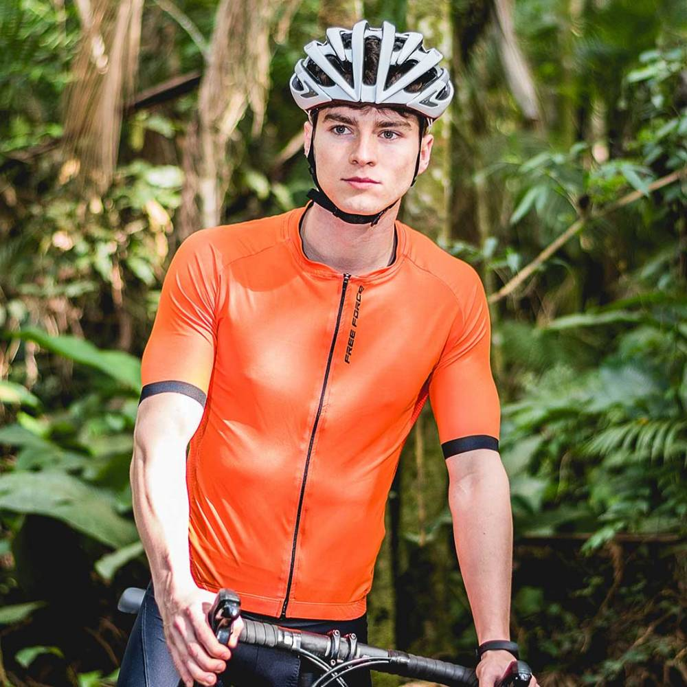 CAMISA DE CICLISMO MASCULINA TRAINING ORANGE