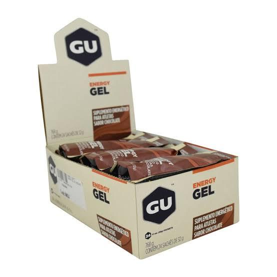 CAIXA GEL GU ENERGY 24 UNIDADE CHOCOLATE