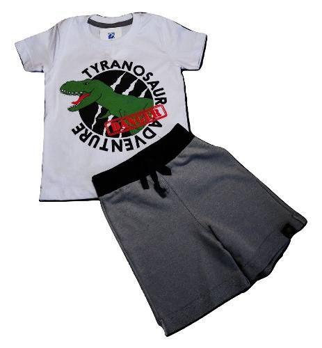 Conjunto Bebe Menino Camiseta Bermuda Moletom Infatil 1 A 3 anos  - Manabana