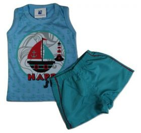 Conjunto Bebe Menino Camiseta Regata Bermuda Natal Black Friday