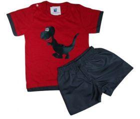 Conjunto Bebe Menino Camiseta Bermuda Black Friday Natal