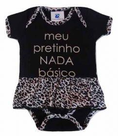 Body Bailarina Com Saia Oncinha Bebe Menina Presente Natal