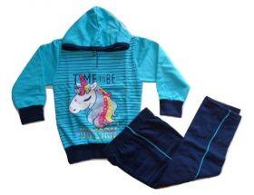 Conjunto Moletom Flanelado Unicornio Infantil Menina 3 Anos