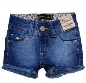 Bermuda Jeans Infantil Menina Shorts Manabana Lindo Verão 1 2 3 anos