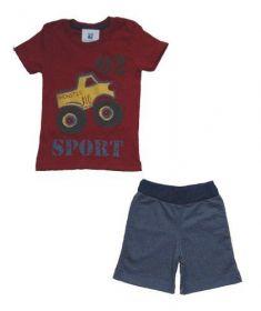 Conjunto Verão Curto Infantil Menino camiseta e bermuda Oferta qualidade