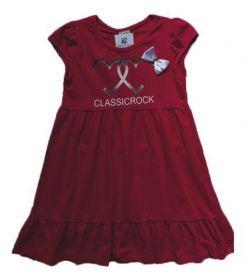 Vestido Manabana Infantil Menina Curto Vermelho Natal de Verão