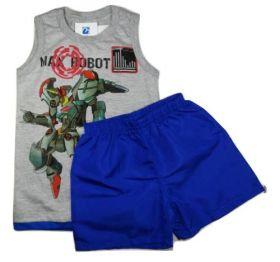 Conjunto Bebe Menino Camiseta Bermuda Tactel Infatil