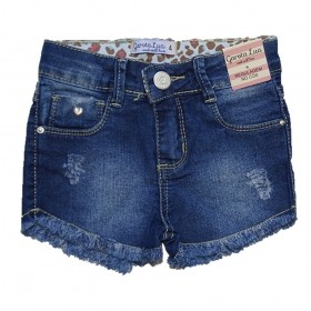 Bermuda Jeans Infantil Menina Shorts Manabana Lindo Oferta  4 6 8 anos