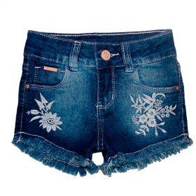Bermuda Jeans linda Infantil Menina Shorts Manabana  Oferta  4 6 8 anos