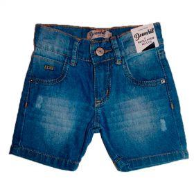 Bermuda Jeans Shorts Infantil Manabana Menino 1, 2 e 3 anos Azul