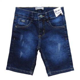 Bermuda Jeans Shorts Manabana Menino Azul Verão