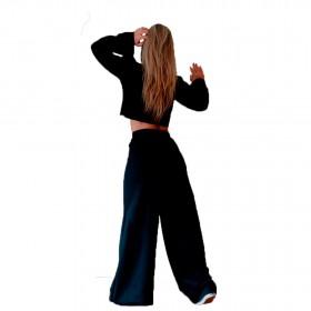 Calça Pantalona de Moletom Flanelado Manabana