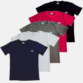 Kit 5 Camiseta Infantil Manabana Basica Cores 1 2 3