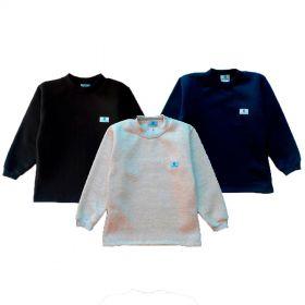 Kit 3 blusas de moletom Manabana flanelado infantil