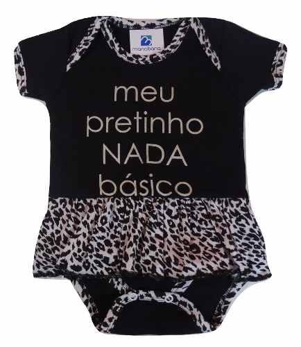Body Bailarina Com Saia Oncinha Bebe Menina Presente Natal  - Manabana