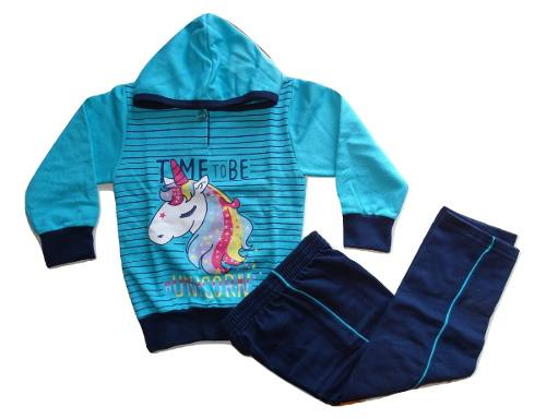 Conjunto Moletom Flanelado Unicornio Infantil Menina 3 Anos  - Manabana