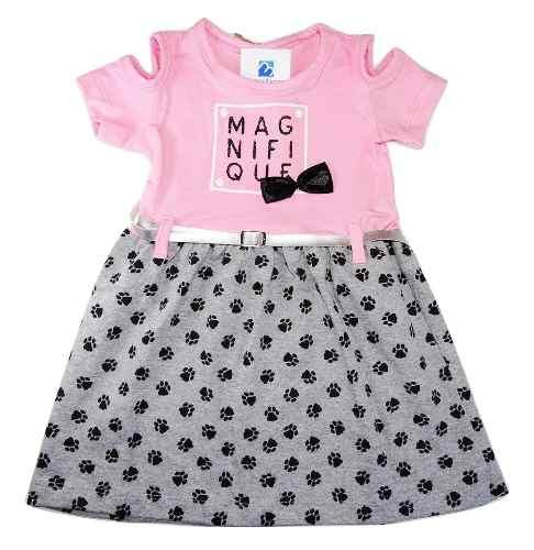 Vestido Bebe Infantil Roupa Verão Menina 1 A 3 Anos  - Manabana