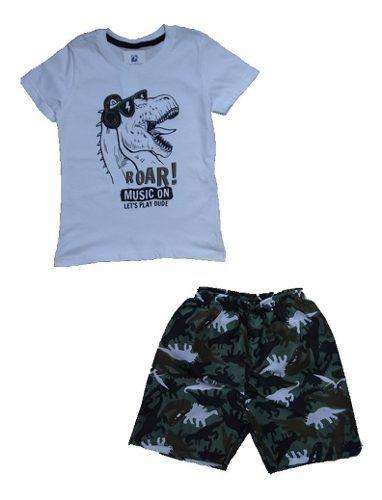 Conjunto infantil menino bermuda e camiseta curta ou regata Verão  - Manabana