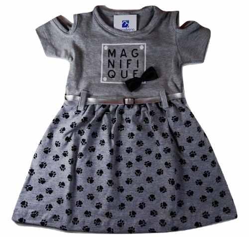Vestido Bebe Menina Infantil Cotton Roupa Verão 1 A 3 Anos  - Manabana