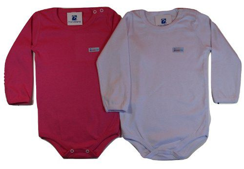 Kit 2 Body Infantil Menina Menino Enxoval Bebe 1 A 3 Anos  - Manabana