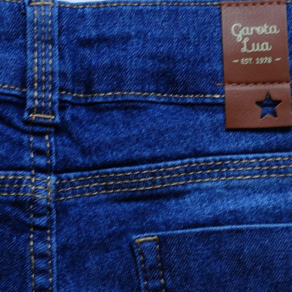 Bermuda Jeans Infantil Menina Shorts Manabana Lindo Oferta  10 a 16 anos  - Manabana