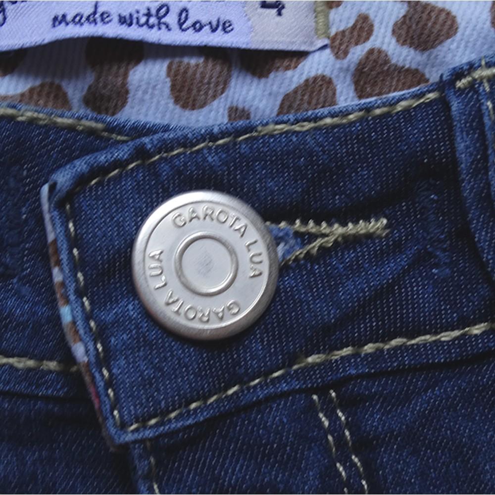 Bermuda Jeans Infantil Menina Shorts Manabana Lindo Verão 1 2 3 anos  - Manabana